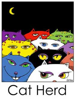 Cat Herd by Beans Barton