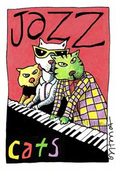Jazz Cats by Beans Barton